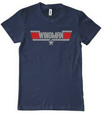 Wingman Womens T-Shirt Funny Top Gun Movie TEE Beer Retro Party Navy Drinking
