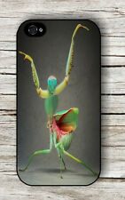 INSECT LIFE BROWN ORANGE PRAYING MANTIS CASE FOR iPHONE 4 / 4S - 5 / 5S - 5c -af
