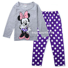 Baby Girl Kids Children Clothing Pajama Set Top+Pants Sleepwear Homewear Minnie
