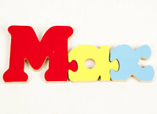 Children's Personalised Name Jigsaw - Wooden Jigsaw Ideal as a learning aid