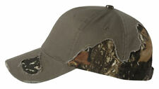 Outdoor Cap Frayed Camouflage Camo Hat BSH350 Mossy Oak Break-Up & Realtree