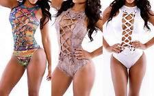 One-Piece Women Hollow Out Bandage Bikini Set Sexy Monokini Swimsuit Swimwear