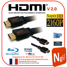 Cable HDMI 2.0V PRO 3D HIGH SPEED 4K UltraHD 2060p long de 0.5m à 10m