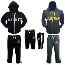 Prime Sports Mens Full Zipped Tracksuit Hoodie Bottoms Fleece Trousers & Top New