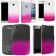 Pink Raindrop Design case cover for Various Mobile Phones & Stylus