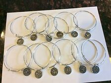 Silver Color Expandable Wire Bangle Charm Bracelet Adjustable - Zodiac Signs