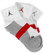 3 PACK Nike Jordan Ankle Low Cut Sports Socks White Pairs Mens- XL UK 11-14.5