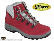 WOMENS BACKPACKING BOOTS - GRISPORT WALKING BOOTS - WATERPROOF  VIBRAM SOLES RED