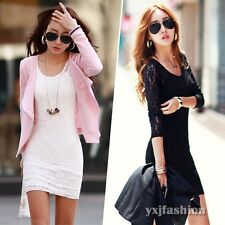 2014 Fall Women Ladies Long Sleeve Lace Party Club Cocktail Mini Bandage Dresses