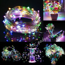 4M 40LED String Fairy Battery Light Waterproof Bendable Craft Wedding Xmas Party