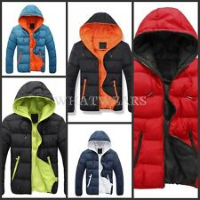 2014 Winter Mens Warm Wadded Coat Jackets Thickening Hooded Slim Outerwear SHO