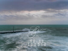 Pier in 2014 Storm -  Porthleven Cornwall Professional Print Photograph