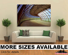 Wall Art Canvas Picture Print Unframed- Curves Tunnel  Curitiba South of Brazil