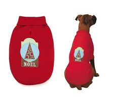 Zack & Zoey Winter Lights NOEL Christmas Holiday Dog Puppy Sweater RED Sm Large