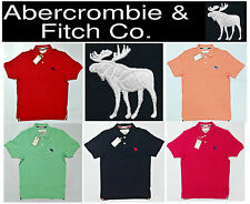 Latest Abercrombie & Fitch 2014 Spring Mens Polo Collar Tee T Shirt M L XL XXL