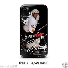 Corey Perry Anaheim Ducks Hockey Custom iPhone 4/4S 5 Hard Case Cover