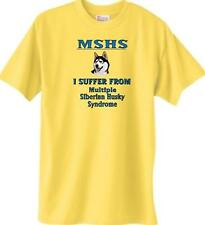 MSHS - Multiple Siberian Husky Syndrome Dog T-Shirt Yellow - 5 Color Available