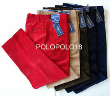New $125 Polo Ralph Lauren Logo Stretch Corduroy Pants Classic Fit Multi Sizes