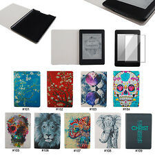 Cute Cat PU Leather Flip Cover Case For New Amazon Kindle Paperwhite 1 2&3G Wifi