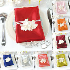 "20"" x 20"" Square Satin Table Napkin Cloth Handkerchief Hanky Wedding Party Decor"