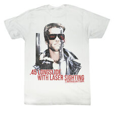 Terminator 80s SciFi Action Movie .45 Longslide With Laser Sighting Adult Tshirt