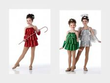 Christmas Dance Costume Dress Ballet Pageant Holiday TINSEL Child & Adult Sizes