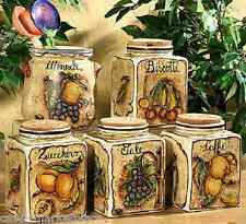 Intrada Ceramic Kitchen Canisters & Utensil Holder Sold Separately Made in Italy