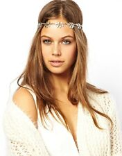 Bohemian Crown Leaf Forehead headband hairband headpiece Hair Metal Head Chain