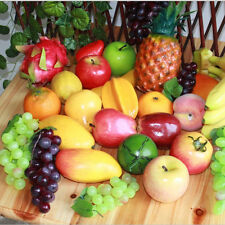 New 1/5/10pcs Large Artificial Fake Fruits Apple Plastic Fruits Home Party Decor