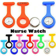 Cute Tunic Quartz Movement Silicone Nurse Watch quartz Brooch Fob pocket Watch
