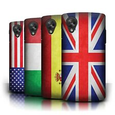 STUFF4 Back Case/Cover/Skin for LG Google Nexus 5/D821/Flags
