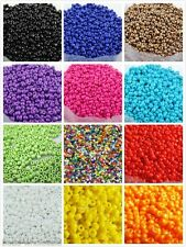 Czech 1000pcs Round Opaque Acrylic Seed Beads Finding For Jewelry Making 15g 2mm