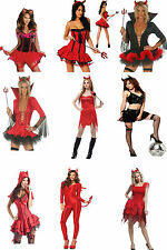 Sexy Naughty Devil Halloween Red Fork Horns Fancy Dress Costume Party Witch