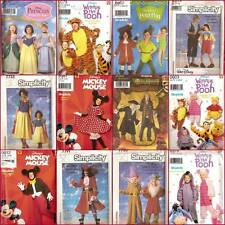 Disney Costume OOP Simplicity Sewing Pattern Adults Children You Pick