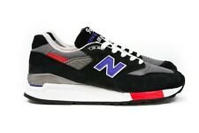 "New Balance Mens M998HL Made In USA ""Catch 22"" in Black/Cobalt Sizes 7-13 BNIB"