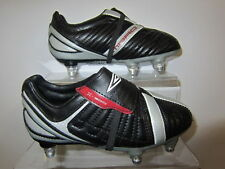 Umbro 'X-500' Boy's Black, Silver and Red Football Boots with Changeable studs