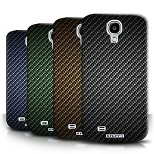 STUFF4 Back Case/Cover for Samsung Galaxy S4/SIV/Carbon Fibre Effect/Pattern