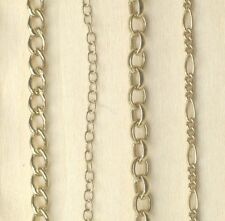 """9ct Gold Plated 925 Sterling Silver Chain Bracelet Necklace Curb Belcher 6""""-30"""""""