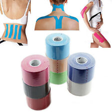 5m x 5cm Sports Muscles Care Elastic Physio Therapeutic Tape Bandage 6 COLORS