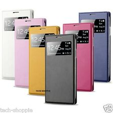 LEATHER S-ViEW FLiP CASE COVER FOR SAMSUNG GALAXY S4 MiNi i9190 i9192 FLiP COVER