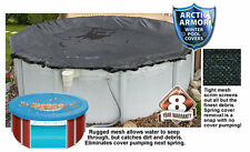 NEW Arctic Armor Rugged Mesh Above Ground Pool Winter Covers: Round & Oval Sizes