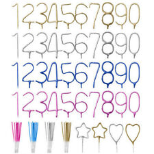 Birthday Cake Number Candles Party Candle Numbers 1st 2nd 13th 16th 21st 30th 40