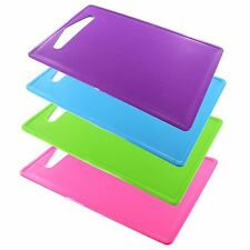 New Coloured Plastic Chopping board Kitchen Food Worktop Cutting Dicing Slicing