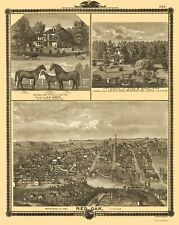 RED OAK IOWA PANORAMIC (IA) BY ANDREAS ATLAS CO 1875