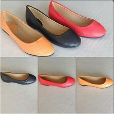 Women's Flats in Black, Red, Soft Orange Sizes 5 1/2-10   New Ships without Box