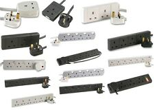 EXTENSION LEADS 4 GANG 6 GANG SURGE PROTECTED 5m 10m 20m SWITCHED BLACK WHITE