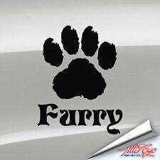 Furry Paw Decal, Furdom, Fandom, Fursona, Yiff, Cat, Dog, Sticker, Choose Color