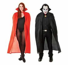Black/Red Halloween Long Vampire Dracula Cloak 142.2cm Fancy Dress Costume Cape
