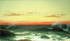 Poster / Leinwandbild Seascape: Sunset, 1861 - Martin Johnson Heade