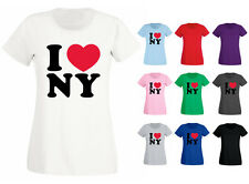 Womens I Love Heart NY New York T-shirt NEW UK 6-18